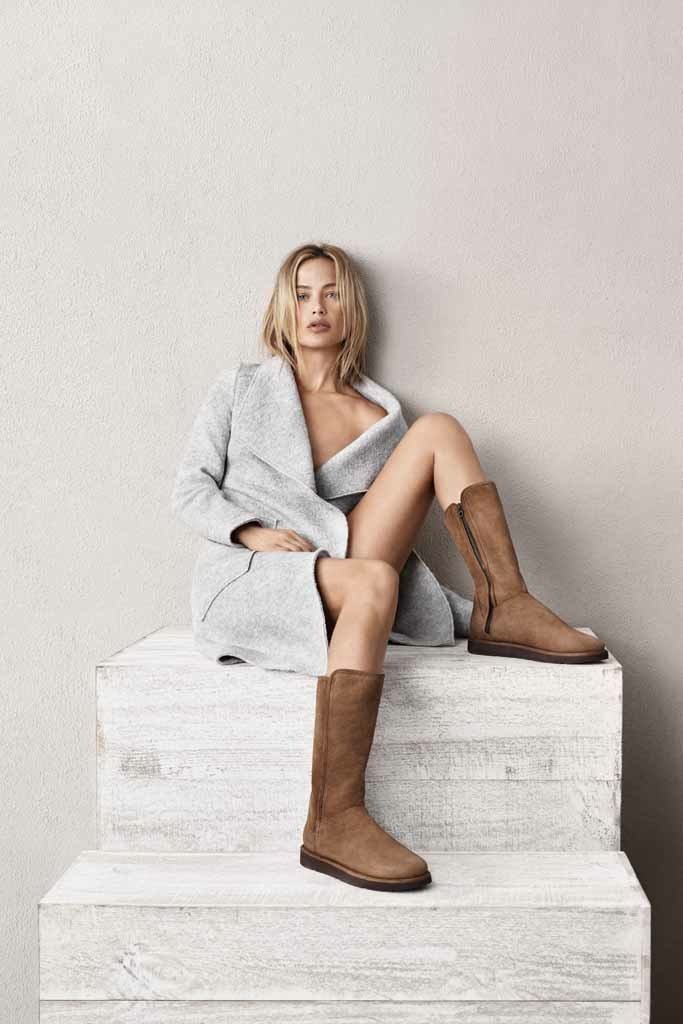 Carolyn Murphy Models UGG's Classic Luxe Shoe Collection ...