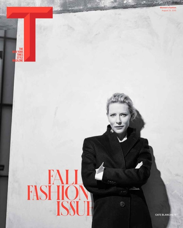 Cate Blanchett on T Magazine Fall 2015 cover