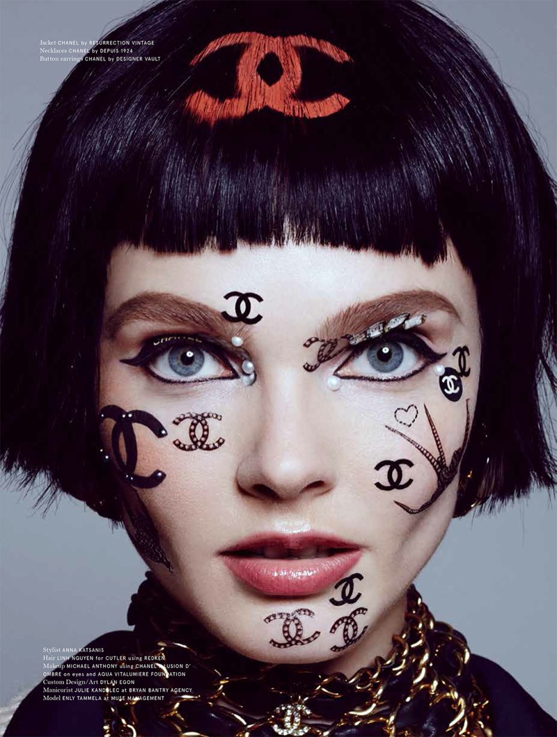A Private Obsession: Enly Tammela by Jamie Nelson in Chanel for No Tofu