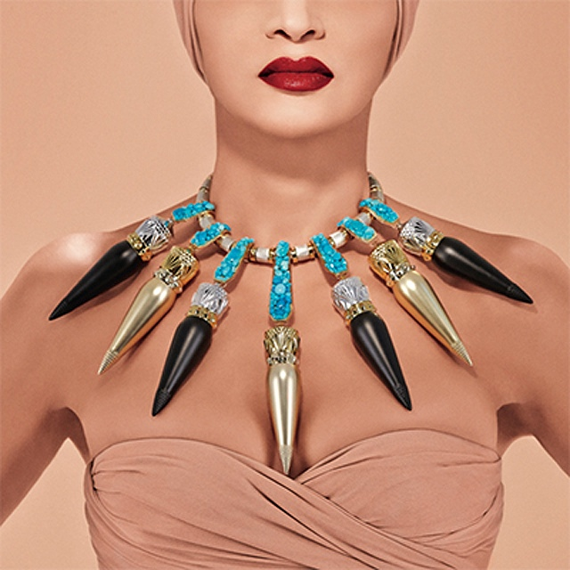 Christian Louboutin's lipstick line was inspired by Nefertiti and art deco