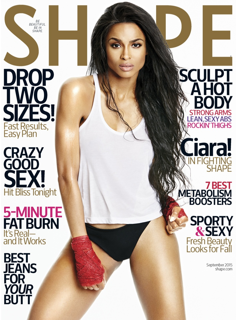 Ciara Shape Magazine September 2015 Cover Photoshoot01
