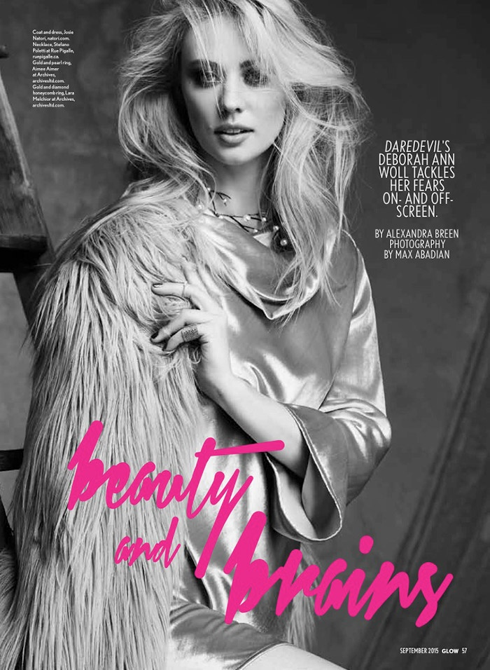 Deborah Ann Woll Glow September 2015 Cover Photoshoot02