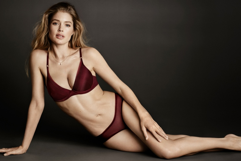 Doutzen Kroes Stars in Hot H&M Lingerie Shoot