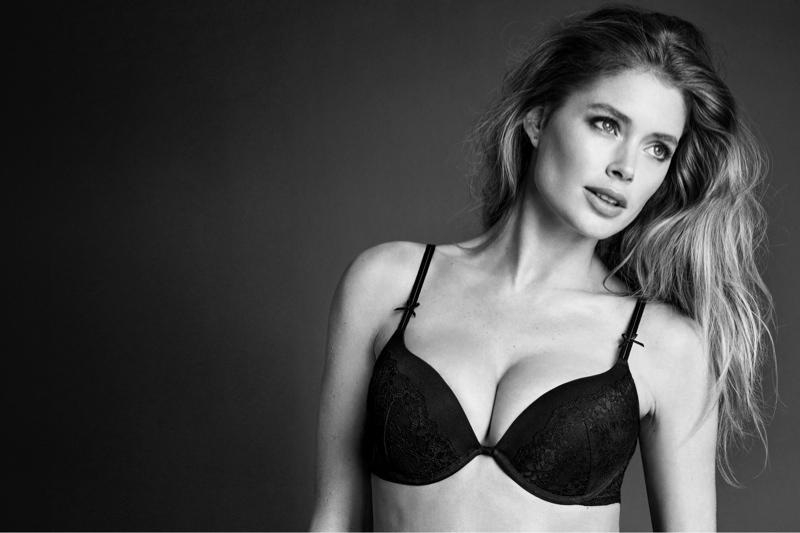 Doutzen Kroes Models H&M's Fall Lingerie Line