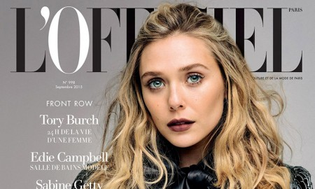 Elizabeth Olsen on L'Officiel Paris September 2015 cover
