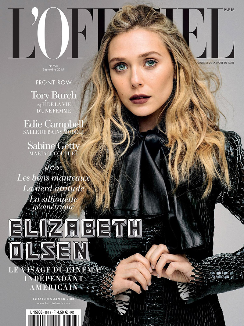 Elizabeth Olsen Gets Dark in Dior for L'Officiel Paris September 2015 Cover