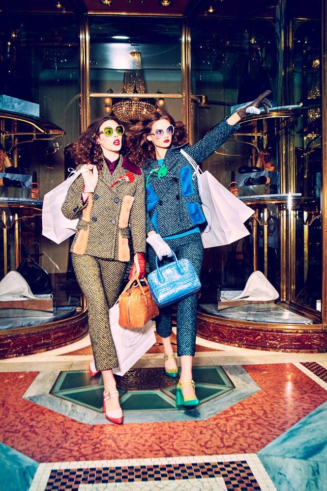 Anna Grostin + Vittoria Ceretti Go Shopping for Vogue Japan by Ellen von Unwerth