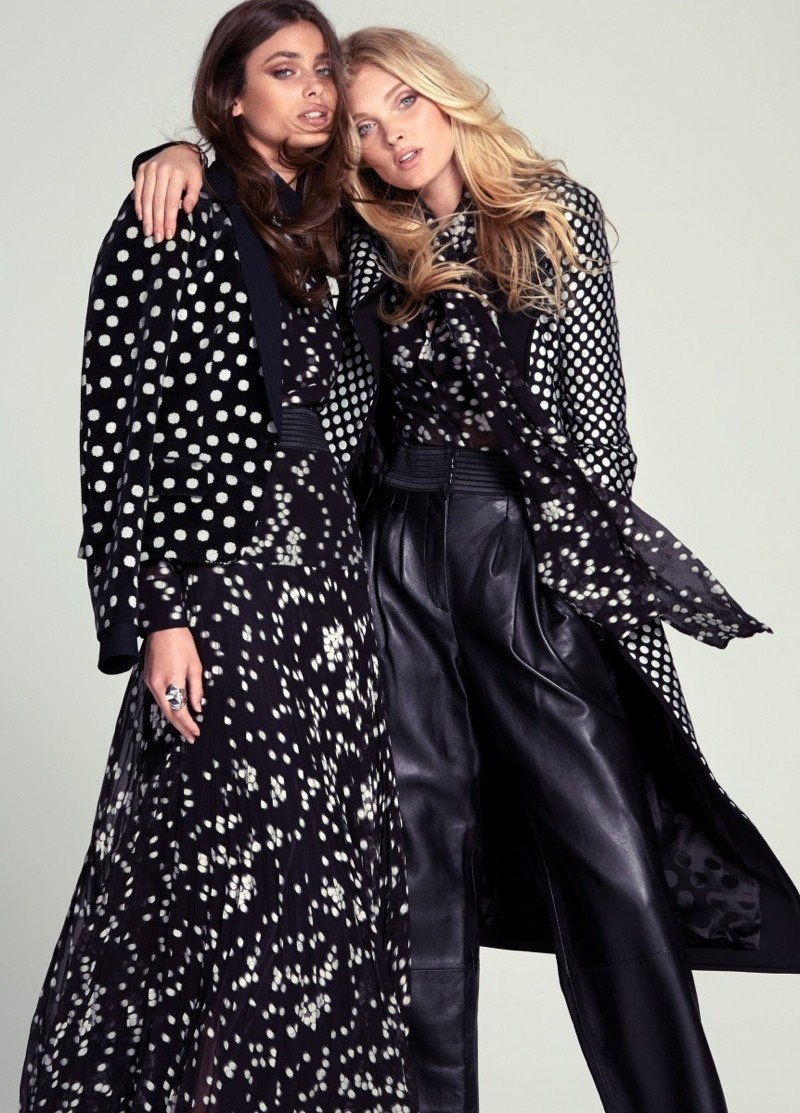 Elsa Hosk and Taylor Hill pose for Fashion Magazine's September issue