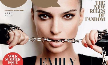 Emily Ratajkowski on GQ UK September 2015 cover