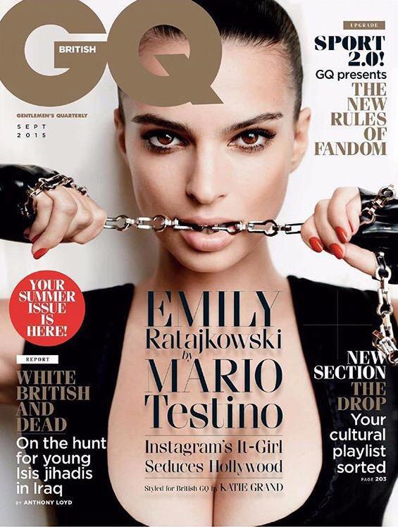 Emily Ratajkowski on GQ UK September 2015 cover