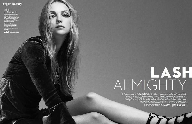 Heather Marks Gets Bold Eyelashes for Vogue Thailand Beauty