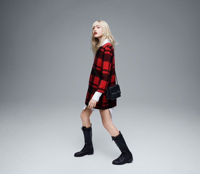 The brand spotlights plaid in its fall campaign