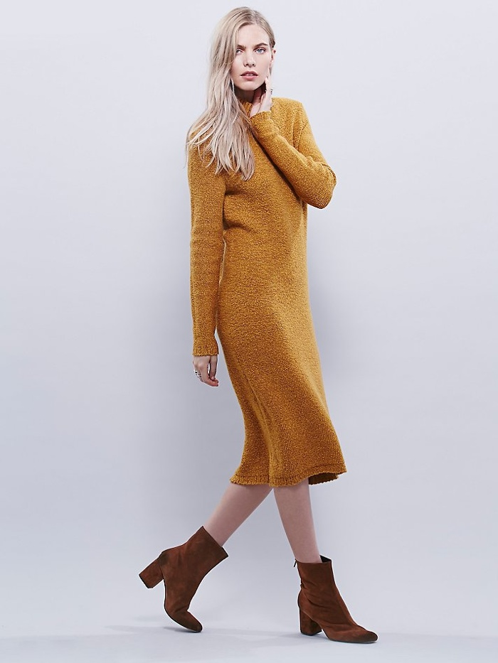 Free People Tweedy Tunic in Mustard available for $198.00