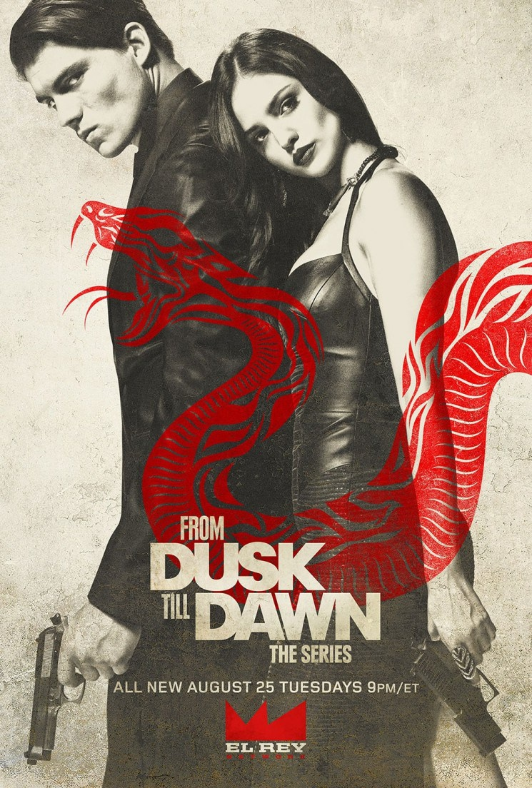 From Dusk Till Dawn season 2 poster with Zane Holts and Elza Gonzalez
