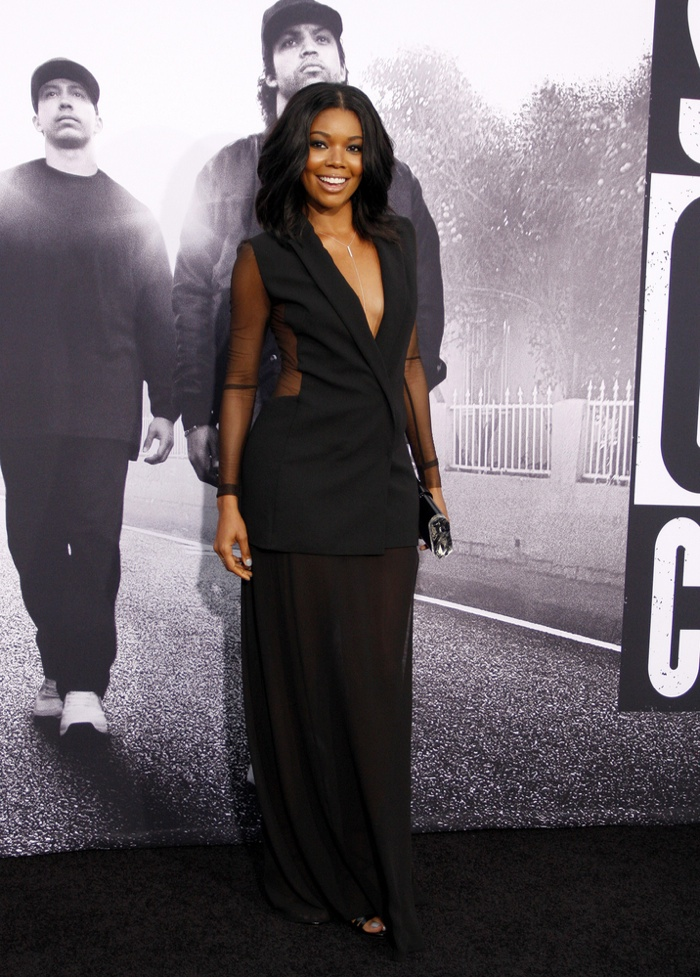 Gabrielle Union Takes a Plunge in Akris at the 'Straight Out of Compton' LA Premiere