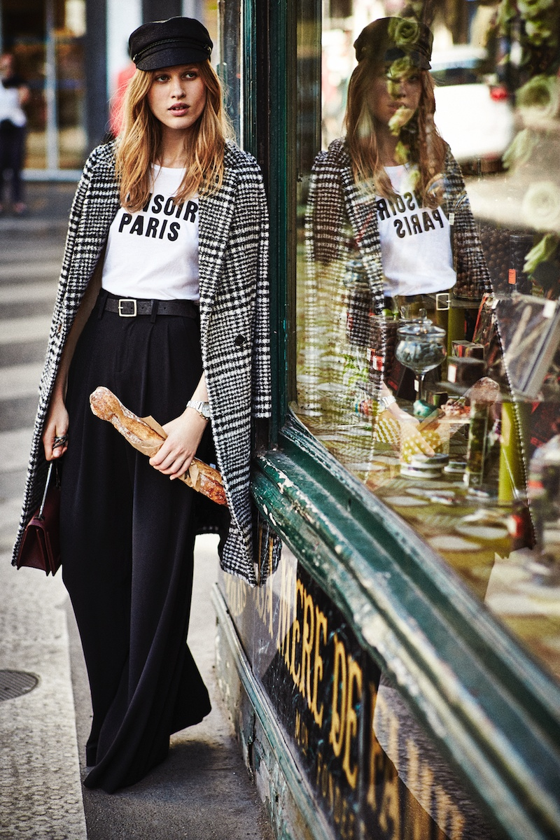 Laura Julie poses in French inspired looks for Shopbop. Photo: Will Vendramini