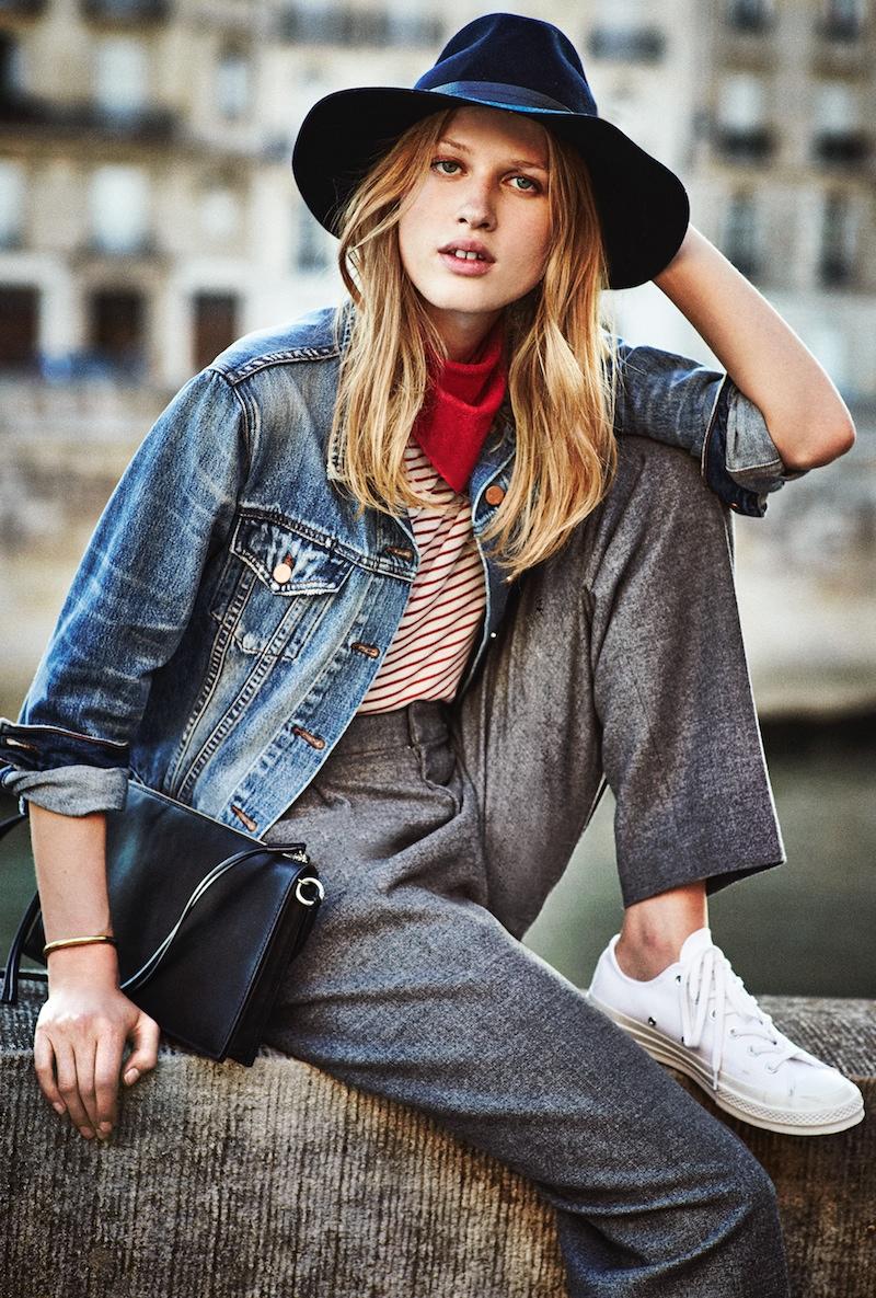 Laura Julie Wears Gamine Style In Shopbop Lookbook