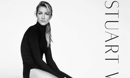 Gisele Bundchen poses for Stuart Weitzman fall-winter 2015 campaign.