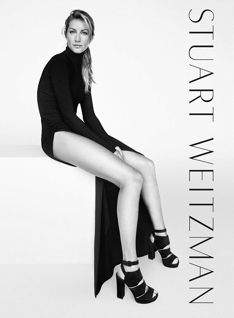 This marks Gisele's third consecutive season as the face of Stuart Weitzman