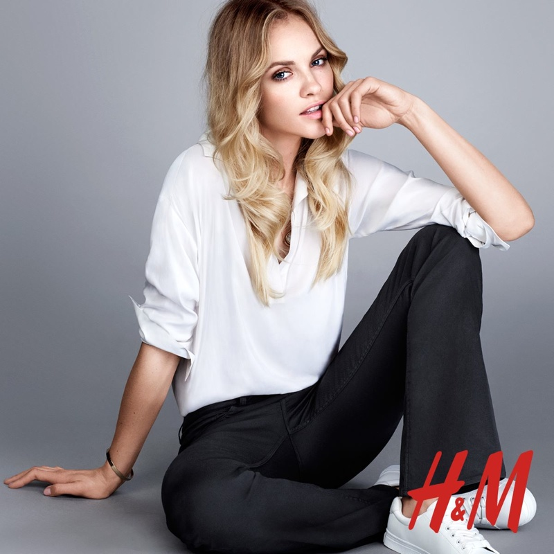 Ginta Lapina Rocks New Pant Styles for H&M