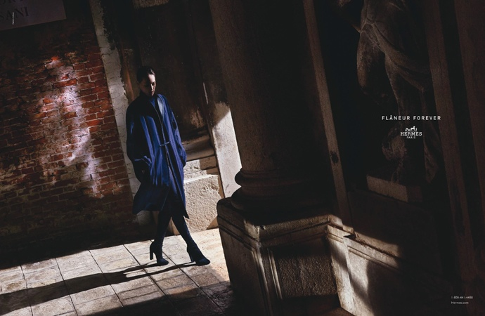 Othilia Simons stars in Hermes' fall-winter 2015 campaign