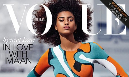 Imaan Hamam on Vogue Netherlands September 2015 Cover