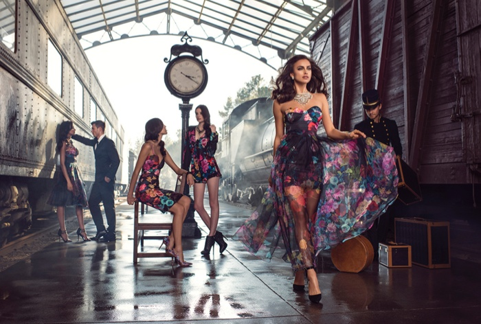 Irina Shayk stars in Bebe's fall-winter 2015 campaign