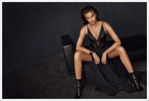 Irina Shayk Lounges in Network's Fall 2015 Campaign