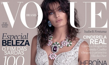 Isabeli Fontana on Vogue Brazil September 2015 cover