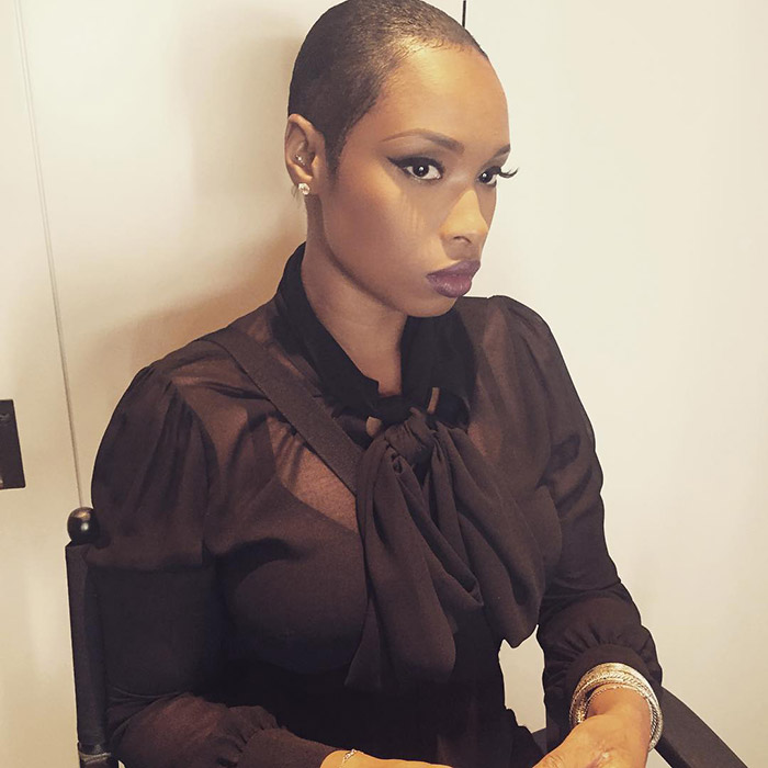 Jennifer Hudson Shows f New Super Short Shaved Haircut