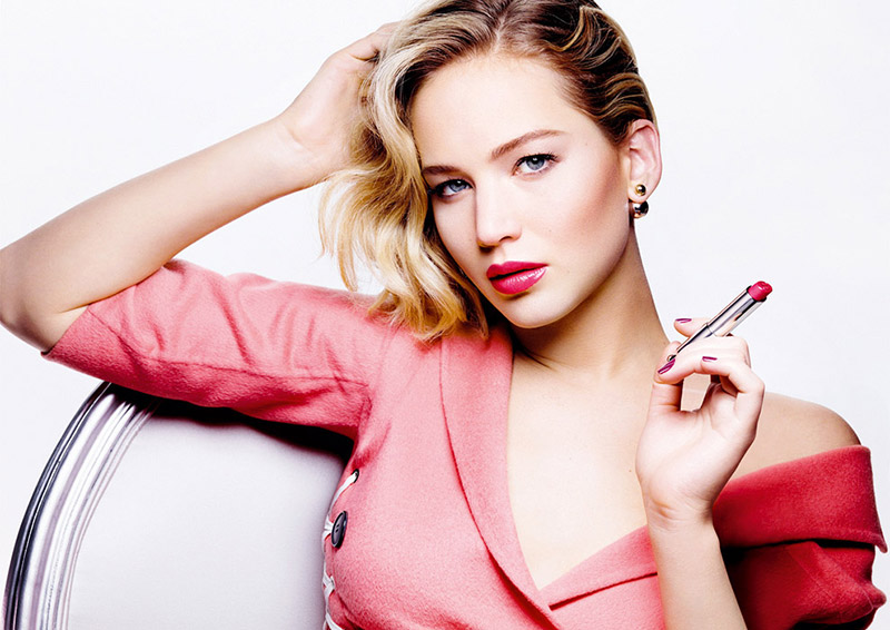 Jennifer Lawrence for Dior Addict Lipstick campaign