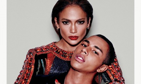Jennifer Lopez and Olivier Rousteing on Paper Magazine September 2015 cover