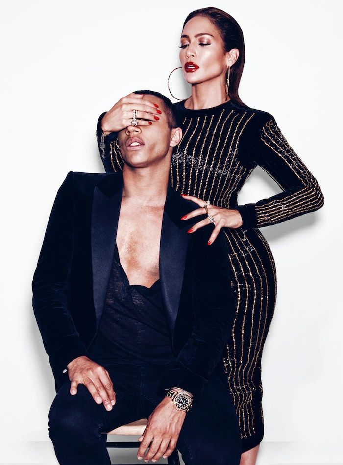 Nicolas Moore photographs the pop star and Balmain designer together