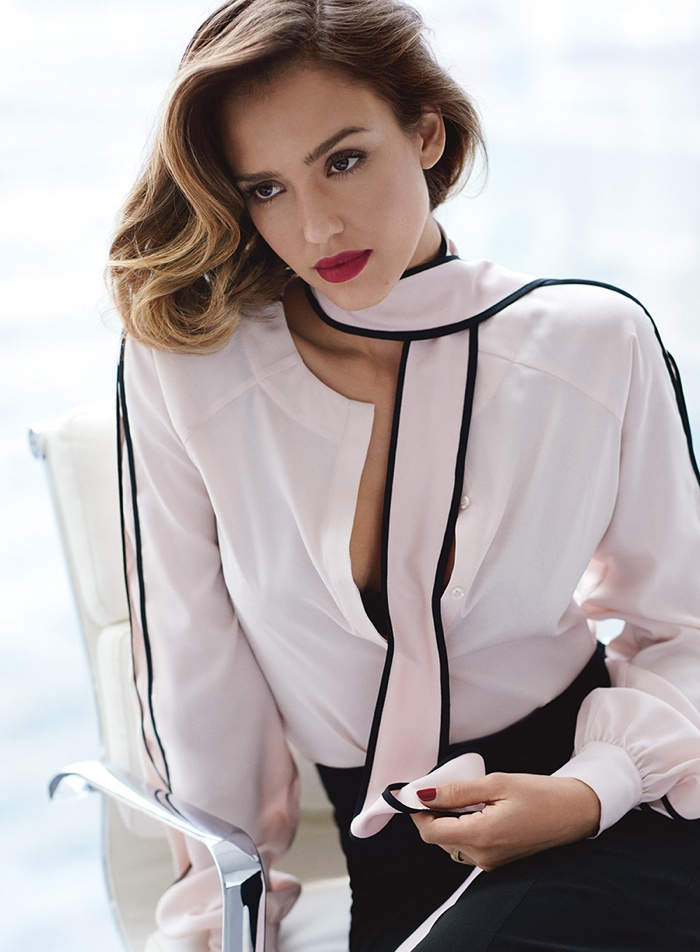 Jessica Alba Gets Glam for Allure September 2015 Cover Story