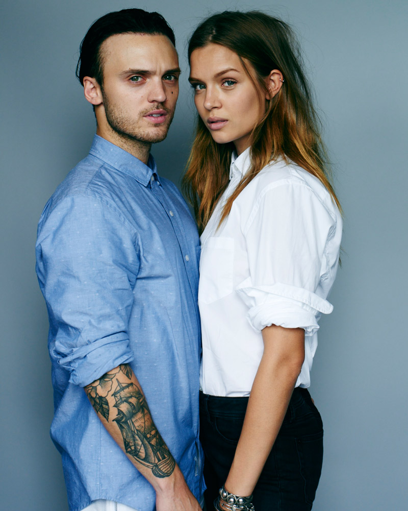 Josephine Skriver poses with boyfriend Alexander DeLeon in the advertisements