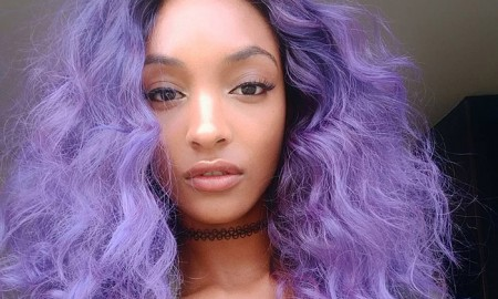 Jourdan Dunn Purple Hair Photo