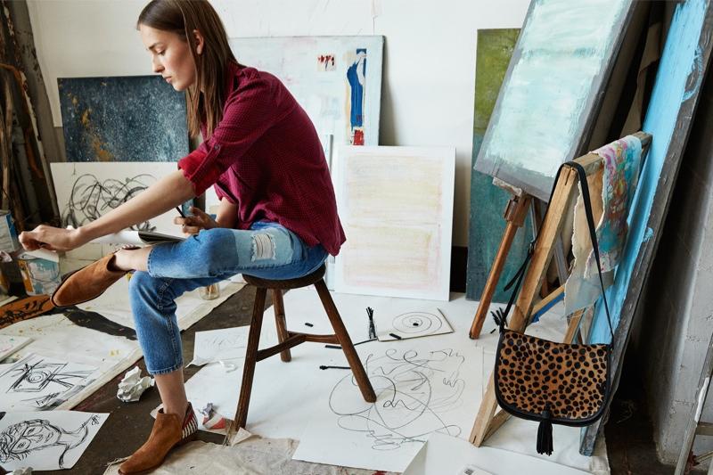 Julia Bergshoeff Takes On Mango's Fall Denim Styles