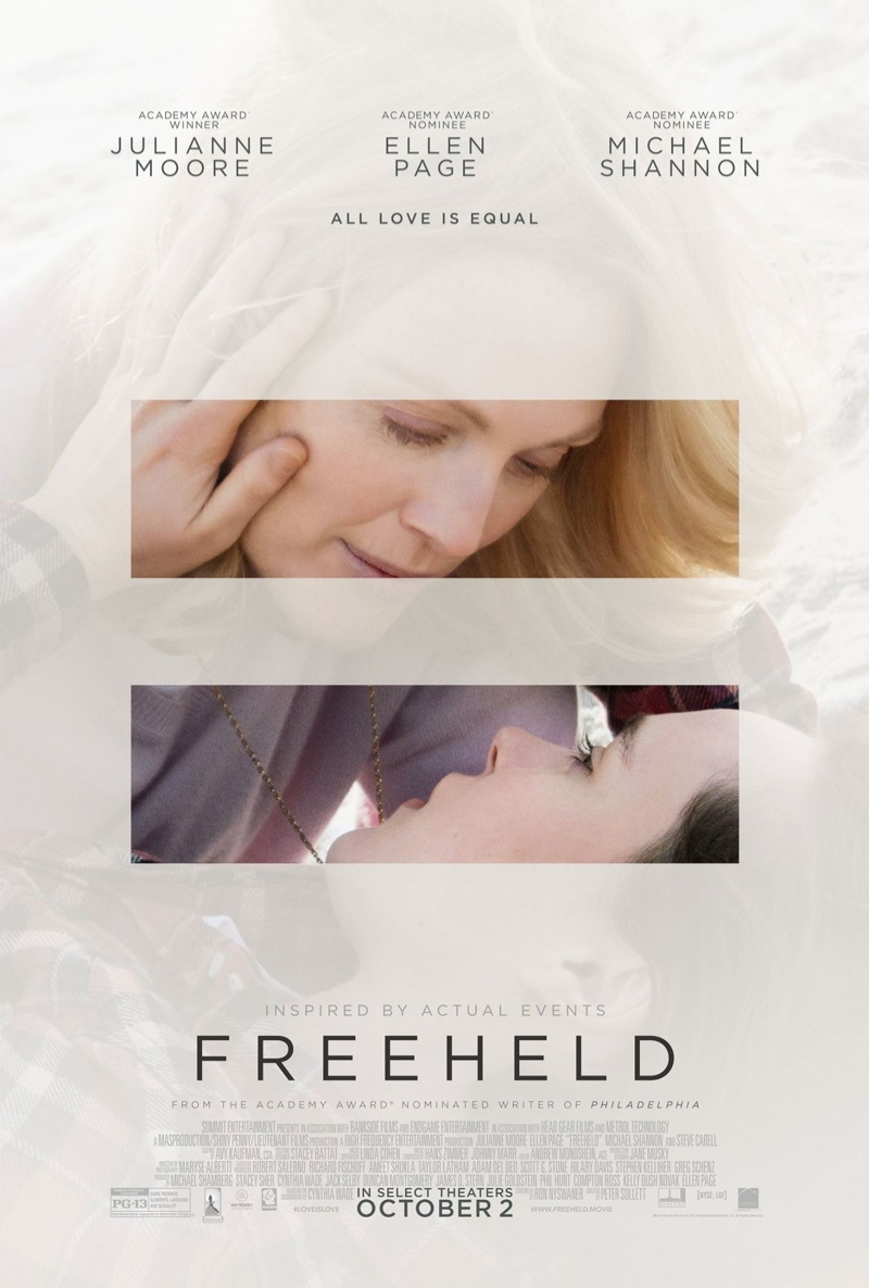 Freeheld poster with Ellen Page and Julianne Moore. Photo: Lionsgate