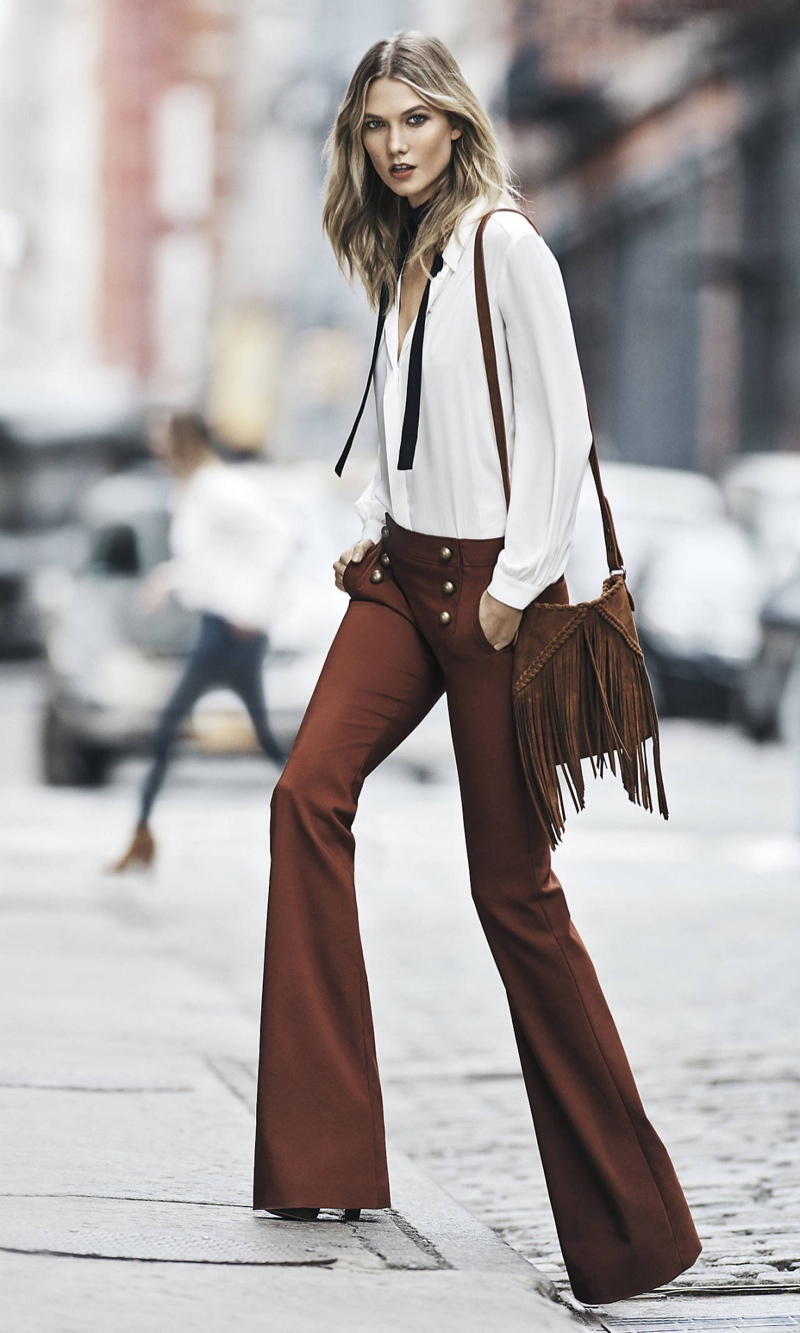 Karlie Kloss Embraces The 70s Trend For Express Wear To