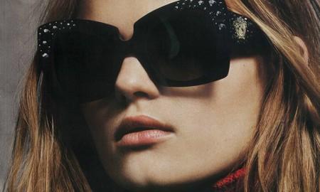 Kate Grigorieva for Versace Eyewear fall-winter 2015 campaign