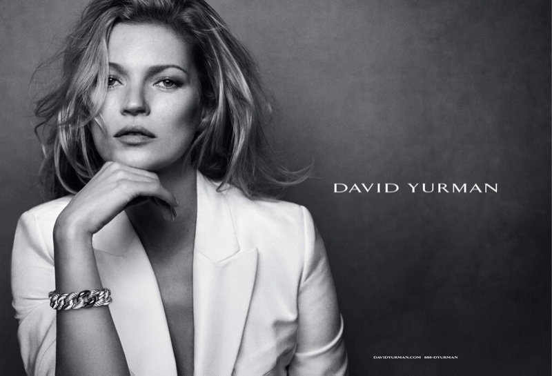 Kate Moss Stuns in Black & White for David Yurman Fall 2015 Ads