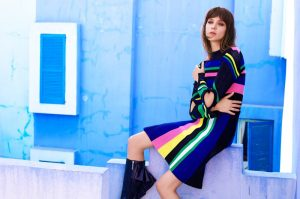 Kati Nescher Wears Colorful Looks for BAZAAR Editorial by Tom Munro