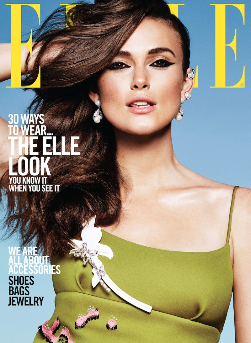 Keira Knightley Channels 4 Different Beauty Looks for ELLE's September Issue