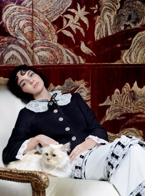 Kendall Jenner Poses with Choupette Lagerfeld for Vogue