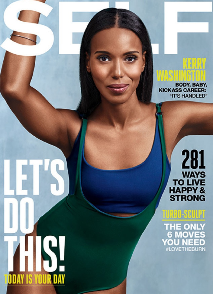 Kerry Washington on the September 2015 cover of Self Magazine