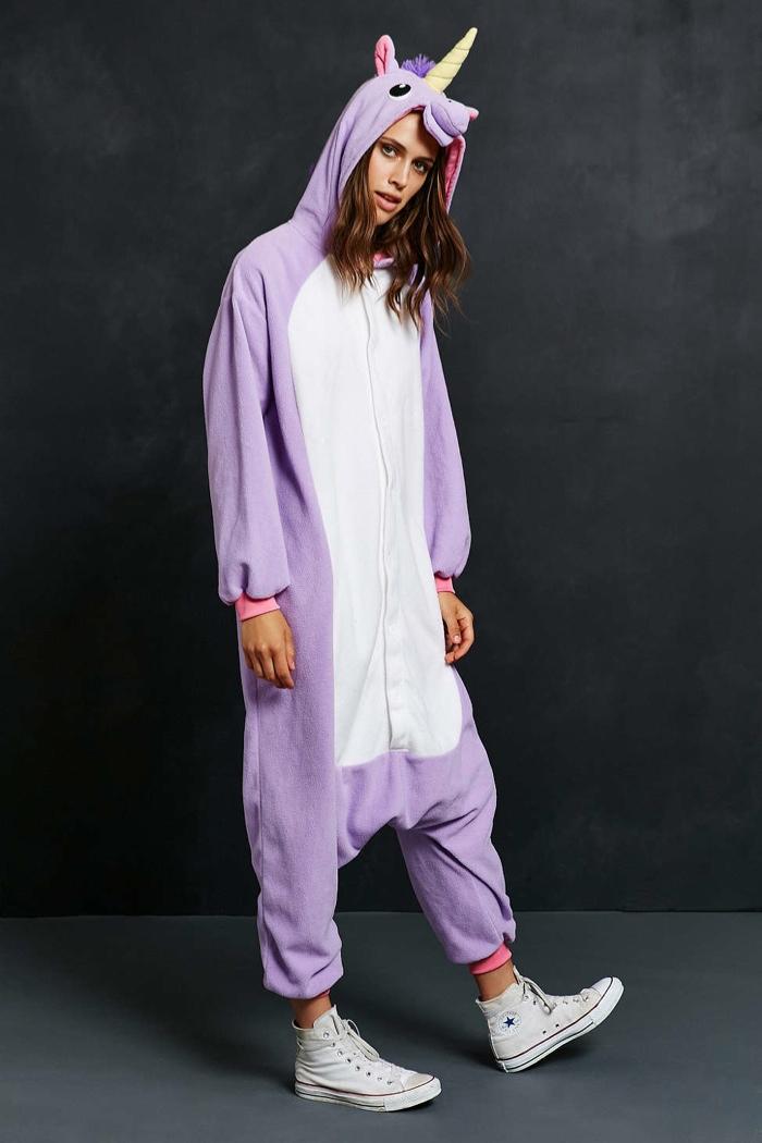 Kigurumi Purple Unicorn Costume available for $80.00