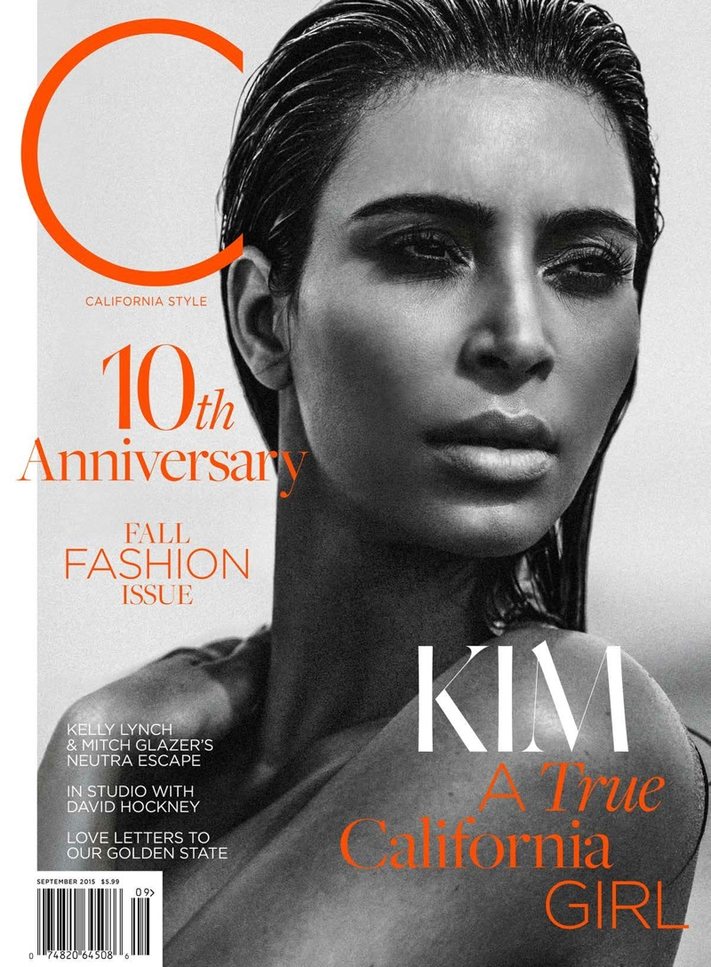 Kim Kardashian Does The Wet Hair Look For C Magazine
