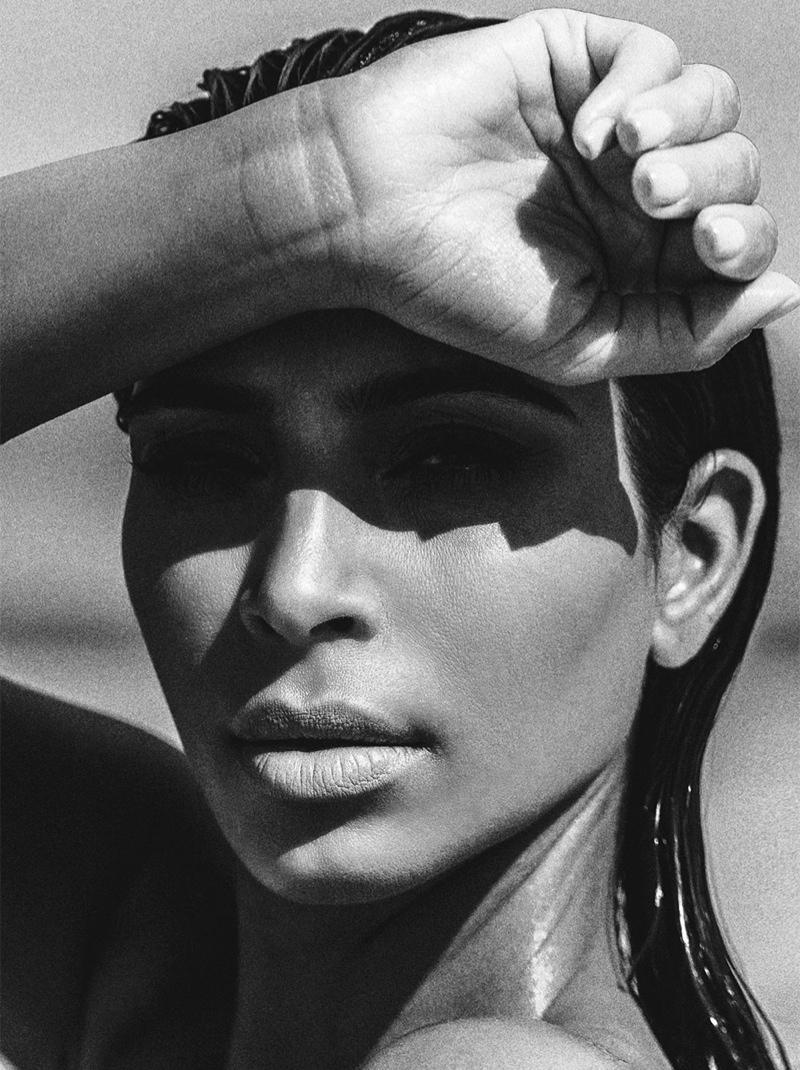 FACE TIME: Kim stuns in a closeup beauty shot