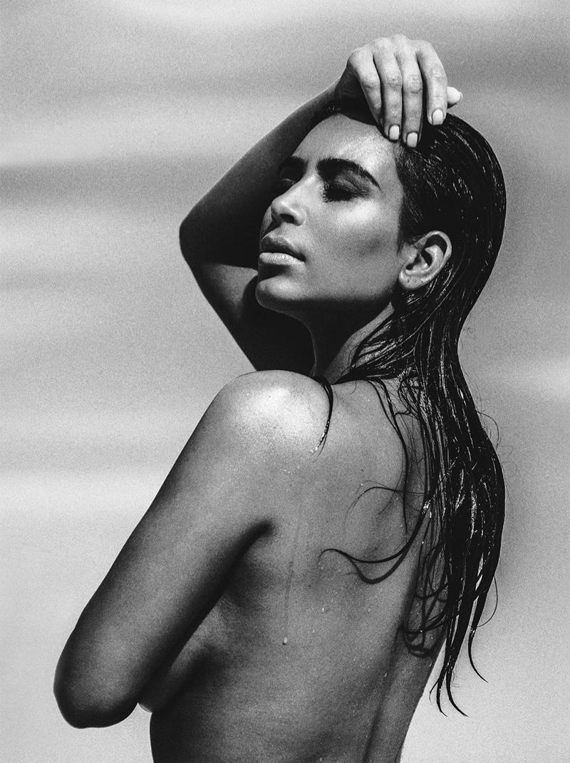 Kim Kardashian Does The Wet Hair Look For C Magazine Fashion Gone