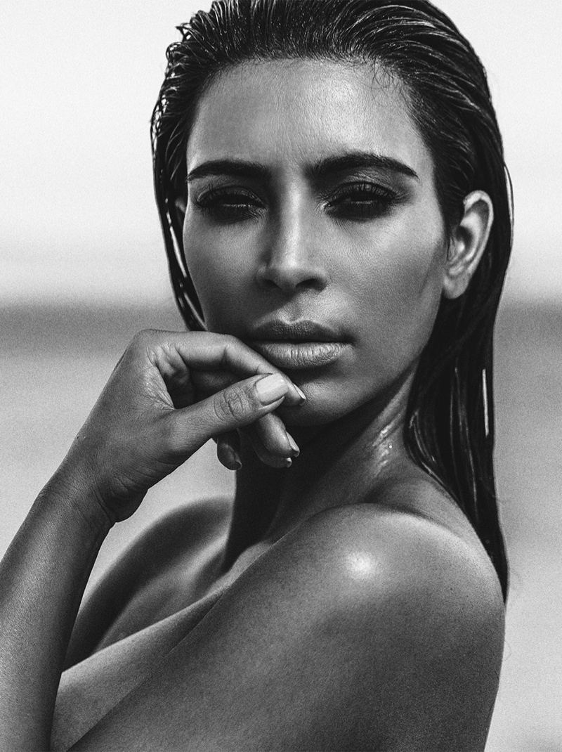 Kim Kardashian Does the Wet Hair Look for C Magazine Fashion